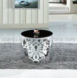 特別なデザインステンレス鋼の黒のガラスコーヒーテーブル(CT035L)