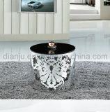 Table basse en verre de noir d'acier inoxydable (CT035L)