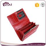 Piccole donne gialle nere rosse borsa di cuoio, borsa del cuoio genuino della pelle del coccodrillo