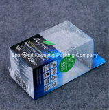 Rectángulo plegable plástico vendedor caliente del animal doméstico claro del conjunto para el empaquetado de las galletas