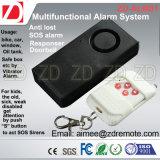 Système d'alarme de détecteur de vibration avec le distant de rf