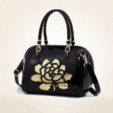 Luxe Patent PU Leather Handbags Femme Messenger Bag dentelle broderie Ladies Shoulder Bgas Sy8408