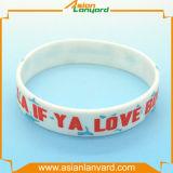 Wristband di gomma personalizzato del silicone del regalo del mestiere