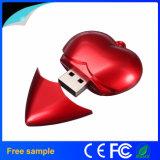 Flash Drive rojo en forma de corazón de plástico USB para un regalo USB