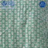 녹색 섹시한 V 목 긴 후에 드러내는 여자의 미끄러짐 복장