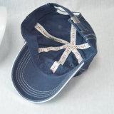 Casquillo de la colada de la gorra de béisbol del algodón de los paneles del azul 6