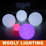Bille vers le haut lumineuse en plastique rechargeable d'éclairage LED de RVB
