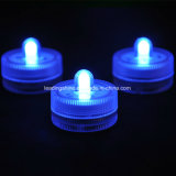 원격 제어 수중 잠수정 LED Tealight 원형 초 결혼식을%s 운영하는 건전지에
