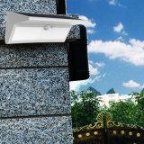 太陽動きセンサーは800lm 46 LEDsの無線機密保護の4つの情報処理機能をもった照明モードの屋外の庭ランプライトをつける