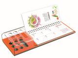 Desktop цветастый пластичный акриловый календар с держателем пер & листом Momo