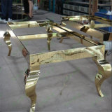 주문을 받아서 만들어진 예술적인 가구 금 색깔 스테인리스 작은 테이블 측 테이블