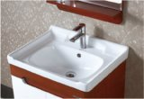 Household&Hotelの田園様式の壁に取り付けられた陶磁器の浴室の虚栄心