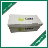 Material acanalado blanco del rectángulo de almacenaje de fichero de la cartulina del rectángulo del fichero con la impresión de la insignia