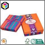 Caja de embalaje de la cartulina de la textura de la joyería de papel del regalo con la tapa