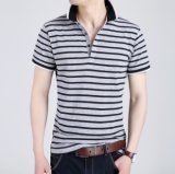 2017의 관례 골프 줄무늬 폴로 셔츠