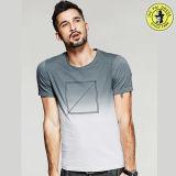 Las últimas camisas 100% del verano del algodón del OEM del diseño de la venta al por mayor para los hombres ponen en cortocircuito la camiseta de la funda