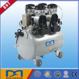 petróleo silencioso mudo portátil do ruído do pistão da potência de C.A. de 50L 2HP compressor de ar dental médico livre do baixo com secador do ar