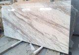 Lastra di marmo bianca di Volakas della vena bianca dell'interno ed esterna