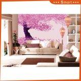 Modèle pourpré idyllique de configuration d'arbre pour la peinture à l'huile à la maison de décoration