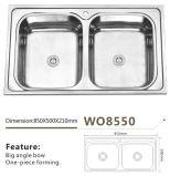 Edelstahl-Küche-Doppelt-Filterglocke-Wanne Wo8550