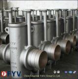 Válvula de porta inoxidável do plano de aço com API 6D