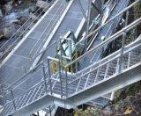 Galvanisierte Stahltreppen-kratzende Strichleiter