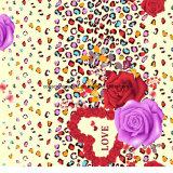 a cópia Pigment&Disperse do leopardo de 100%Polyester Rosa imprimiu a tela para o jogo do fundamento