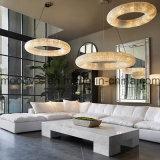 Lámpara cristalina egipcia redonda grande y de lujo moderna del anillo LED para el hotel
