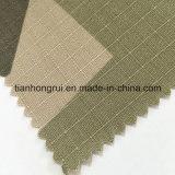Tessuto ignifugo della tela di canapa del cotone bianco cachi