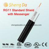RG11 Escudo estándar con cable coaxial al aire libre Mensajero de audio RCA