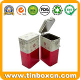 Rechteckiger Kaffee-Zinn-Kasten mit luftdichter Kappe für das Metallnahrungsmittelblechdose-Verpacken