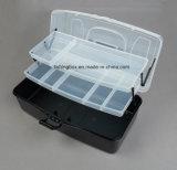 boîtes en plastique noires de mémoire de 2-Tray Assorment
