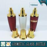 bottiglia di vetro cosmetica colorata bianca rossa della pompa 100ml