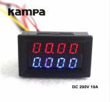 디지털 DC 전압계 전류계 0-200V 전압 현재 미터 전력 공급 빨간 파랑 LED 이중 전시