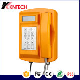 Wasserdichtes Telefon mit LCD-und Metalltastaturblock (KNSP-18LCD) Kntech