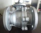 Robinet à tournant sphérique d'extrémité de bride d'acier inoxydable de CF8m