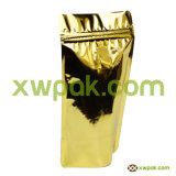 Bolso de café del papel de Kraft con el sello superior de la válvula y de la cremallera
