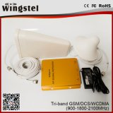 Repetidor móvil de la señal del producto del G/M venda superventas de DCS WCDMA 2g 3G 4G de la tri