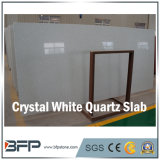 Laje branca de cristal da pedra de quartzo da venda de Hote para a parte superior contrária de cozinha