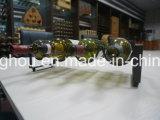 Estante moderno de la curva del estante del vino del metal de 4 botellas para la decoración