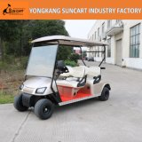 4 Seaters Electric Hotel Carrito de Venta (RY-EZ-401E), 4 pasajeros Golden Color Golf Car