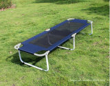 Outdoor Leisure Folding Metal Camping Bed Lounge Chair