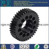 Engranaje anodizado negro de clase superior del motor del CNC del aluminio que trabaja a máquina