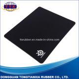 Подгонянный коврик для мыши черноты разыгрыша прямоугольника Non-Slip резиновый