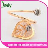 Anillo de diamante del anillo de oro del contrato del dígito binario de taladro de diamante