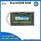 Laptop van de RAM 1333MHz 8bits van de lage Dichtheid PC3-10600 4GB DDR3