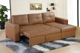 Кровать софы ткани популярной самомоднейшей домашней мебели малая угловойая (HC302)