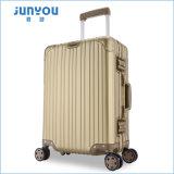Hochwertiges Hardshell 20 24 Zoll-goldene Titanfarben-Aluminiumrahmen-Flug-Gepäck