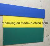 Verde amarillo azul más hoja de Correx Corflute Coroplast de los colores para la protección o señalización o rectángulos