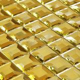 Mosaico del espejo del diamante del azulejo de mosaico del oro (HD043)